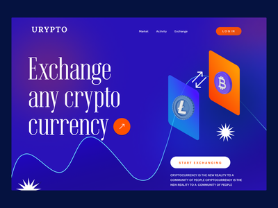 Crypto Marketplace ux product design landingpage design header design webdesign marketplace stock exchange currency exchange crypto currency crypto