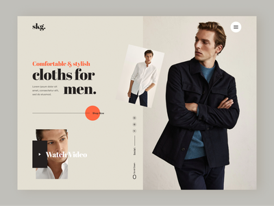 Clothing e-commerce website logo product design design landingpage header design webdesign clean minimal color branding onlinr shop fashion clothing ecommerce