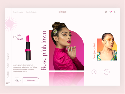 Fashion ecommerce branding product design design webdesign industry beauty beauty products makeup header design fashiecommerce store fashion ecommerce
