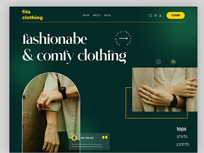 Clothing Ecommerce Website branding header design design landingpage product design webdesign marketplace beauty dressing clothing platform online shop ecommerce