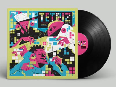 TETRIZ illustration vynil lp design hiphop hip-hop rap