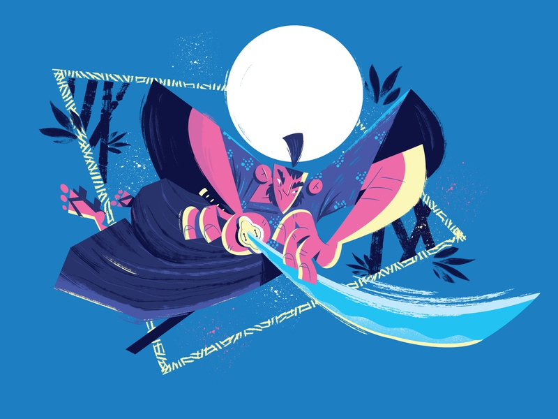 Samurai bushido colors design draw illustration samurai