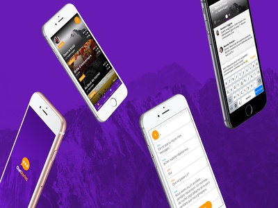 Introducing ChatStories app reading purple smartphone ui stories chat