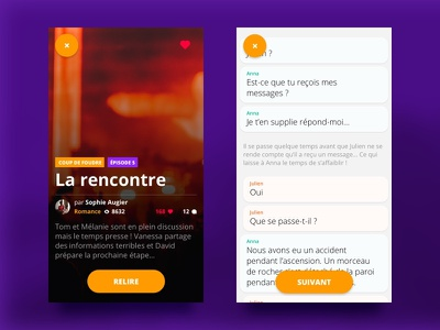Chatstories • Story ui stories smartphone reading purple chat app