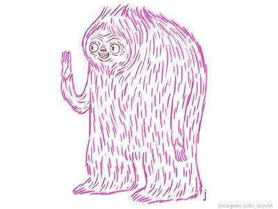 Yeti sketchbook sketch animation creature drawing pen design character illustration pictoplasma yeti