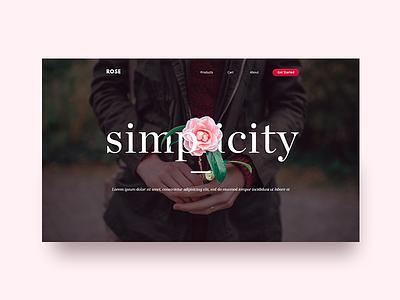 Website Design- Header Direction manipulation flower exploration red landing page haris haris imran ecommerce typography header website