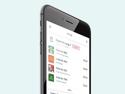 Nom Nom! revenue charts order user interface product design enterprise food ui app