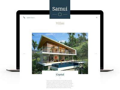 Samui Oasis thailand user interface ui apartments villas website samui oasis