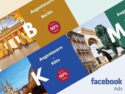 Medidate Facebook Ads colorful typography eye laser germany ads mobile ads facebook medidate