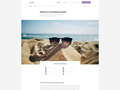 Product Layout typography sections details interface ui medidate product article layout