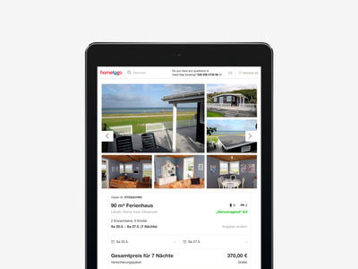 JÄGERMEISTER: Booking Engine vacation rentals hometogo ux ui interface booking redesign tablet