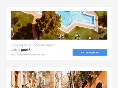 HomeToGo Filters accommodations city centre beach pool vacation rentals cards hometogo filters