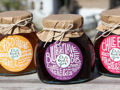 Chile Beach Jams packaging packaging hand-lettering