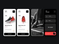 Nike app dribbble design mobile branding sketch interface web ux ui application app design app nike