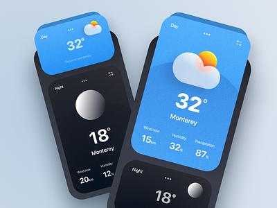 Weather app storm meiyuliia figma interface ui uiux app animation weather weather app