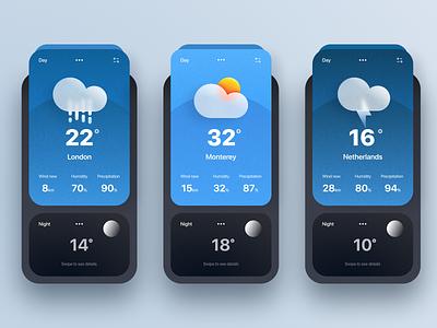 Weather app summer graphic design animation sketch branding illustration ui ux web design interface app mobile