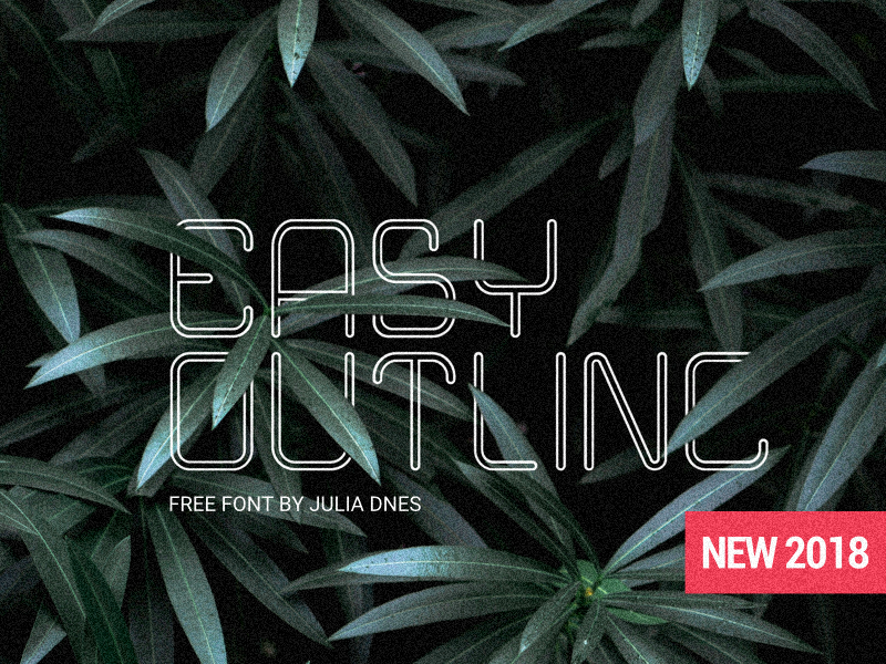 "FREE Font ""Еasy Outline"" font free"