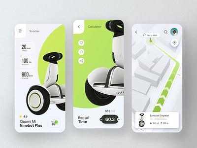 Electric Scooter Rentals ios 7 iosdesign interface cleandesign mobileapp behance dribbble icon app design web webdesign mobiledesign mobileuiux uxuimobile uxdesign uidesigner uiux-mei ux ui
