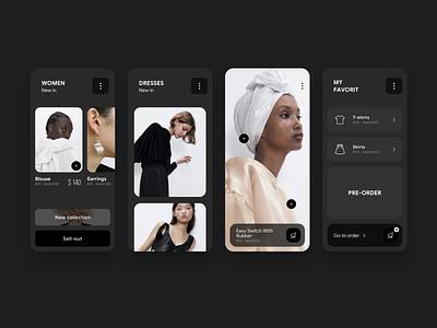 Moda app mobile design mobile mobile app dress moda interface app design web ux ui
