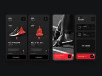 Nike mobile app nike interface app sketch design web ux ui