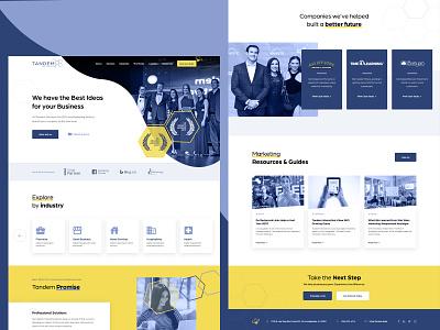Digital Marketing Agency Website Redesign awards agency marketing ui design services html5 landing page wordpress