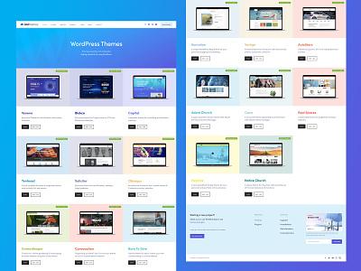 WordPress Themes Page themeforest themes theme services branding blue illustration landing page wordpress
