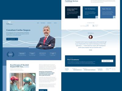 Doctor Website hospital medical doctor blue vector branding design landing page