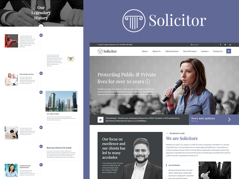 Solicitor - Law Business HTML5 Template website justice event corporate consulting consultant consult business attorney advocate