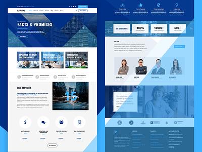 Business Theme For WordPress blue consulting insurance finance html5 wordpress
