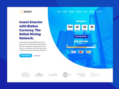 Blokco Theme ICO Landing Page landing page ico web ui bitcoin cryptocurrency web design services