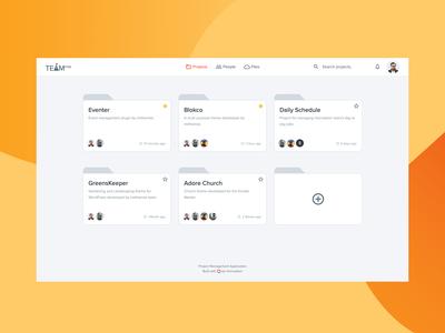 Project management application UI