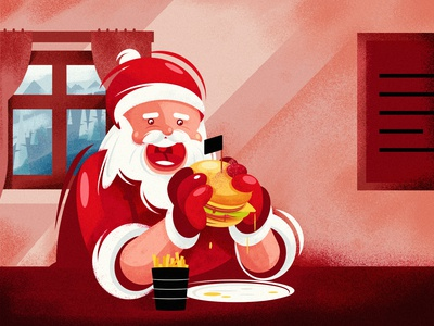Hungry Santa Claus