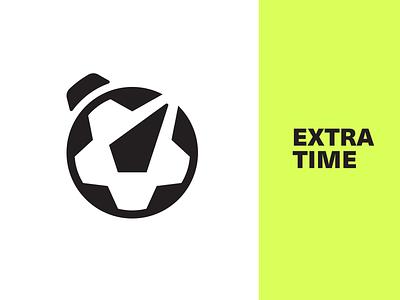 ET logo mark proposal soccer game stopwatch ball extra time smart clever branding brand identity logo logotype mark