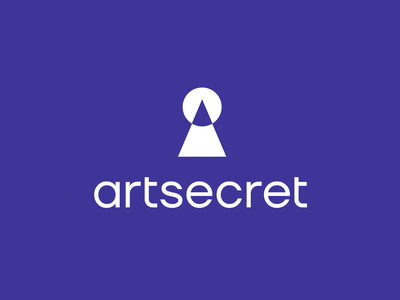 Artsecret logo concept keyhole door secret art pen pencil branding brand identity logo logotype mark