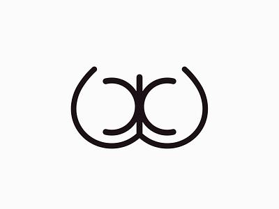 Butt mark лого логотип butt as ж жопа branding brand identity logo logotype mark