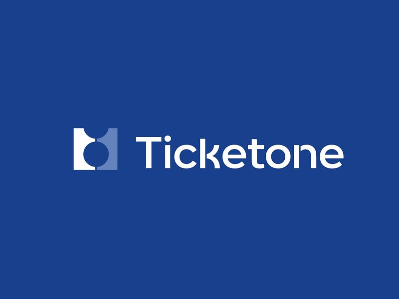 Ticketone logo ticket 1 one smart clever branding brand identity logo logotype mark