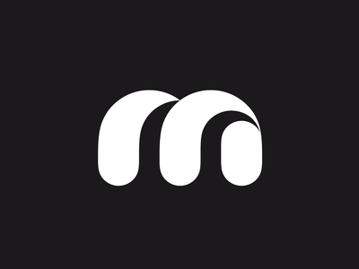 M mark wave logo m monogram letterform letter letters font type branding brand identity logo logotype mark