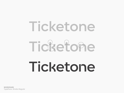 Ticketone wordmark branding brand identity logo logotype mark