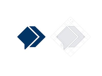 Binarysearch mark chat bubble code coding programing branding brand identity logo logotype mark