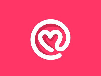 @ heart @ letter email love heart shape branding brand identity mark logotype logo design logos
