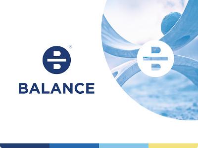 Balance logo balance b letter percent money coin branding identity logo logotype mark