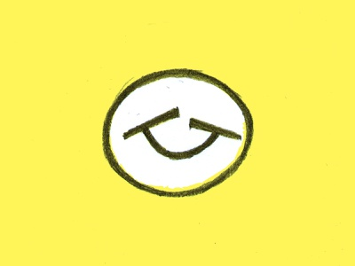 Smille face drawn pencil sketch head happy joy smile smiling face smart clever branding brand identity logo logotype mark