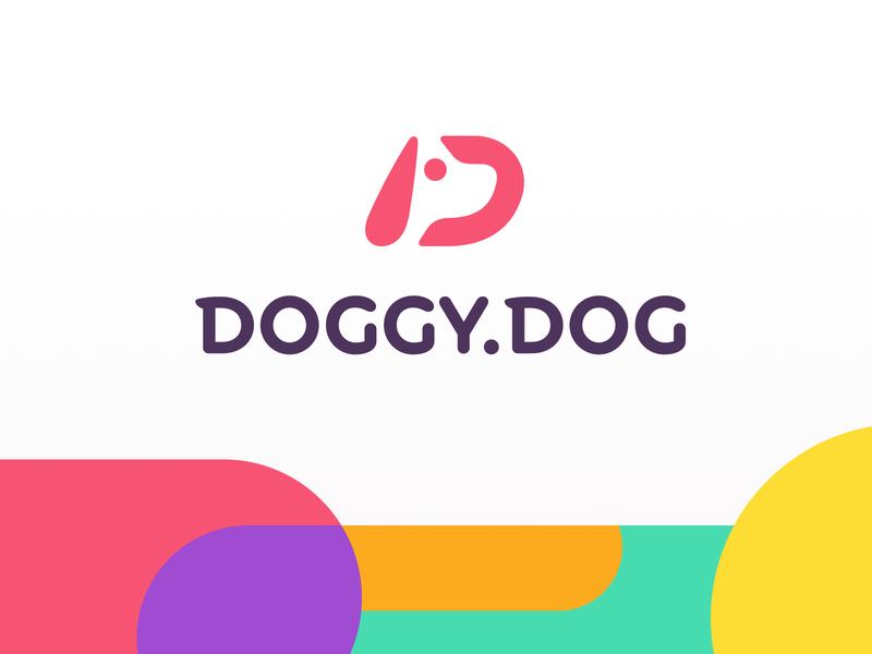 Dog logo negative space d dog doggy show shows smart clever monogram letterform letter letters branding brand identity logo logotype mark