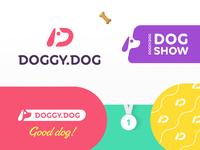 Dog logo style