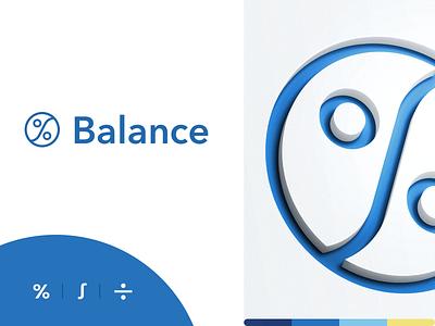 Balance logo balance integral percent branding brand identity logo logotype mark