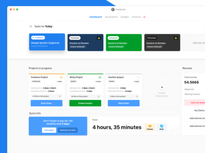 Freelancer Dashboard desktop App