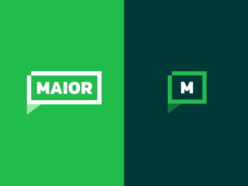 Logo MAIOR green management chat color logotype logo