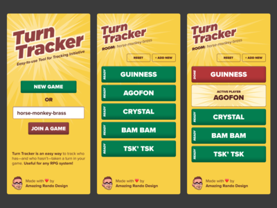 Turn Tracker Initiative App