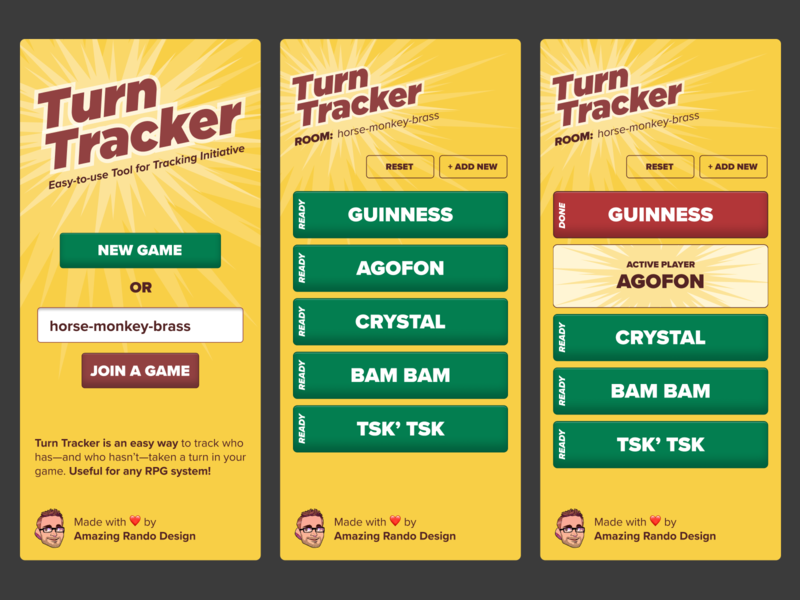 Turn Tracker Initiative App rpg