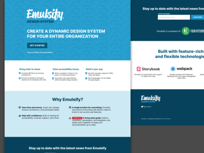 Emulsify Design System for use with Drupal, WordPress, and React
